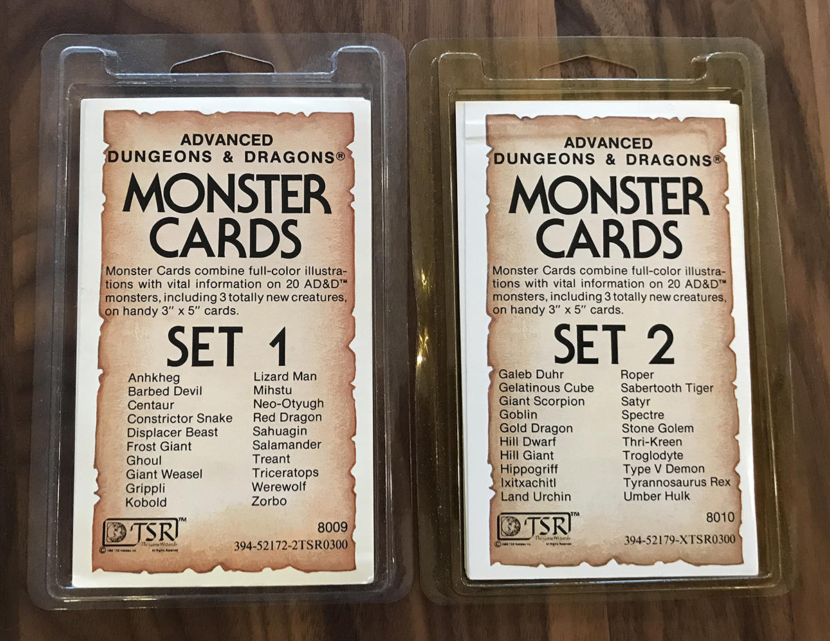 AD&D Monster Cards Set 1 and Set 2